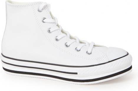 Converse Chuck Taylor All Star Platform EVA Hi leren sneakers met plateauzool wit/zwart online kopen