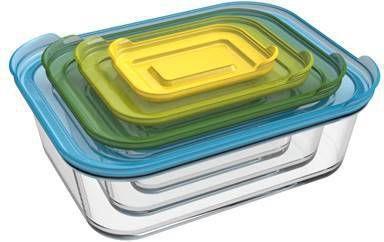 Joseph Nest Ovenschalen Set Van 4 Incl. Deksel Glas online kopen