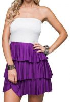 Frenzii strapless ruches jurk