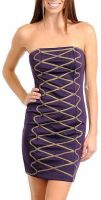 LookinggoodtodayStrapless jurk fashion