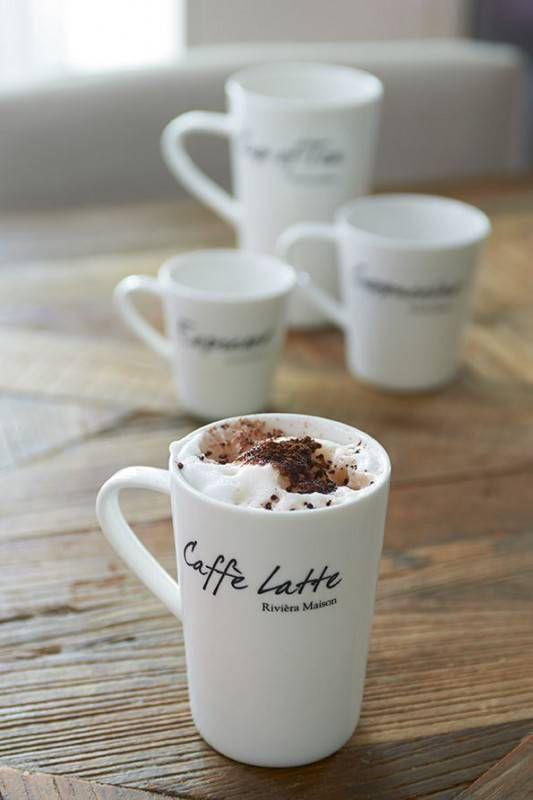 Riviera Maison Café Latte mok Classic (set van 2) online kopen